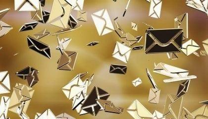 Email Envelopes Gold Flying_Large__Comp