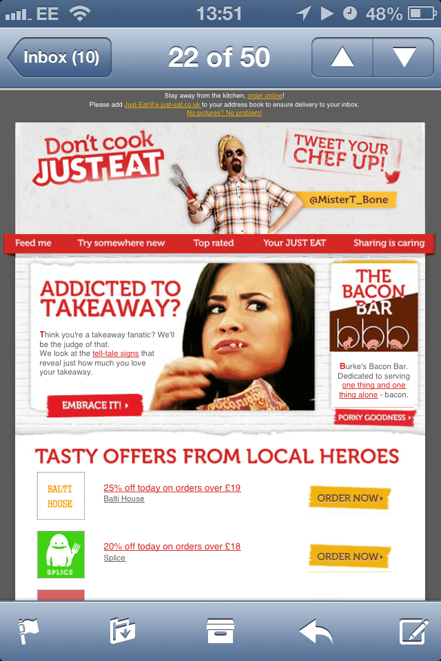 Just eat optimised