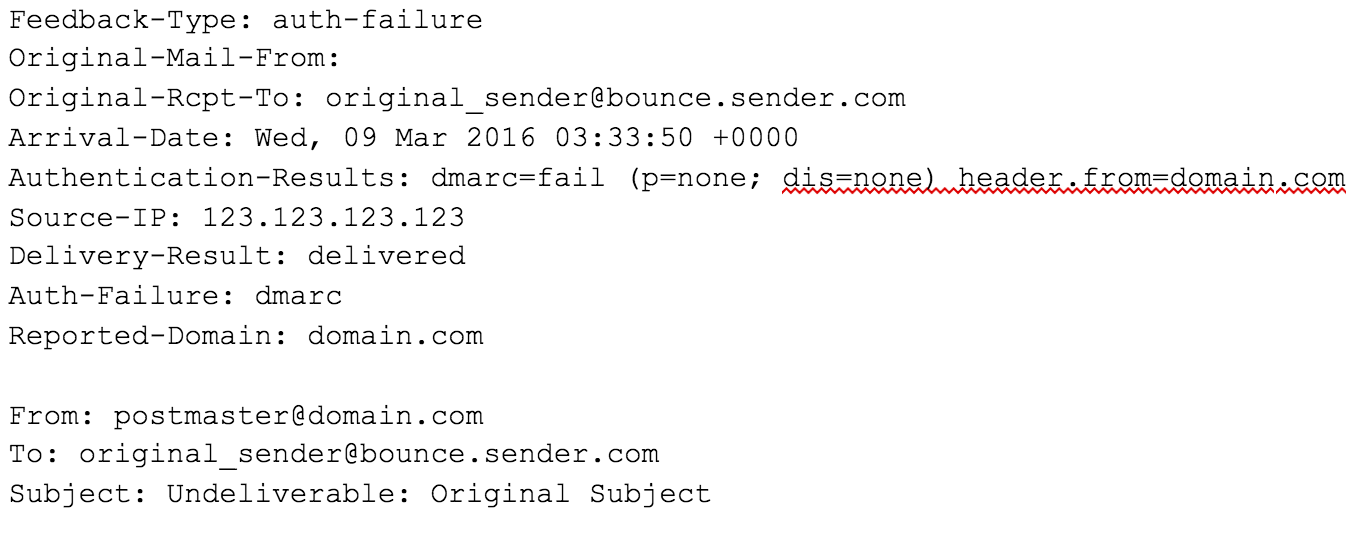 email returned undeliverable